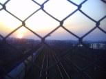 Bagry z mostu kolejowego