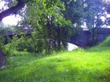 Most na rzece Wildze, wpadającej do Wisły, w Krakowie