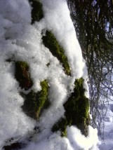 Mech pod śniegiem