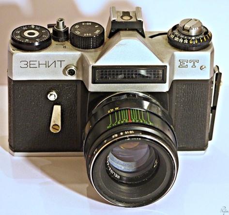Zenit ET i jego standardowy obiektyw Helios 44-2