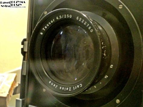Kultowy obiektyw Tessar, Carl Zeiss Jena.