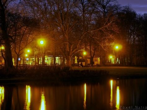 Park Południowy nocą