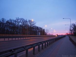 Wjazd na Most Milenijny