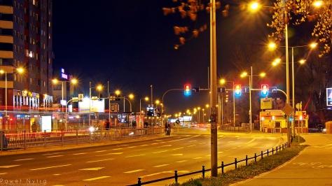 Wrocławski Nowy Dwór wieczorem