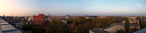Panorama z Renomy na północ Wrocławia