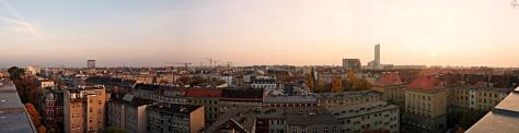 Panorama z Renomy na południe Wrocławia