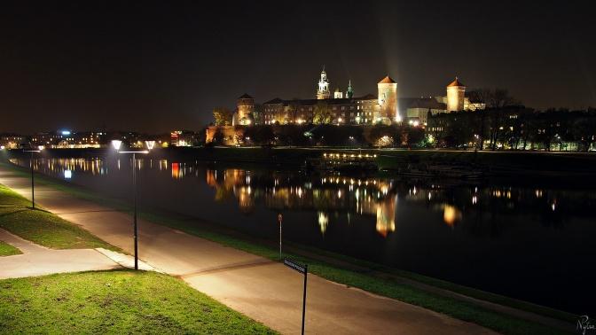 Wieczorny Wawel.