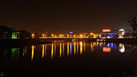 Wisła, Most Dębnicki i Jubilat. Kraków.