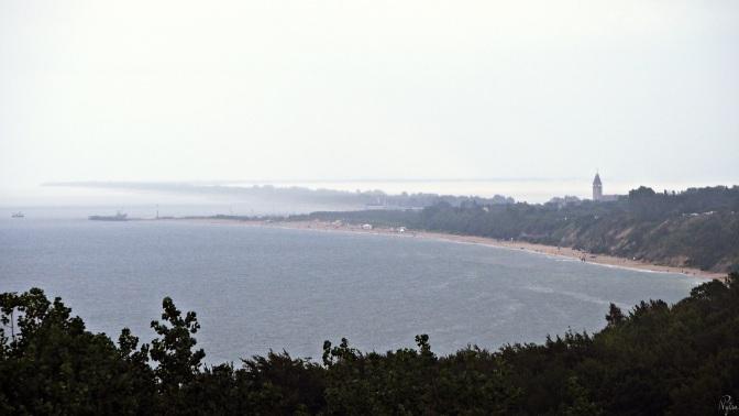 Widok z latarni morskiej.