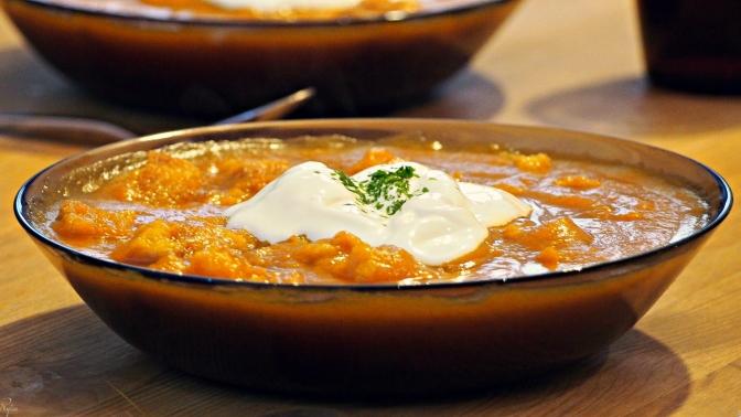 Zupa-krem z dyni (przepis).